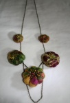 Felt and chain necklace