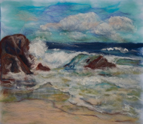 felt painting of west coast of King Island
