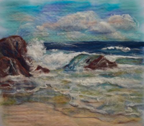 King Island felt painting