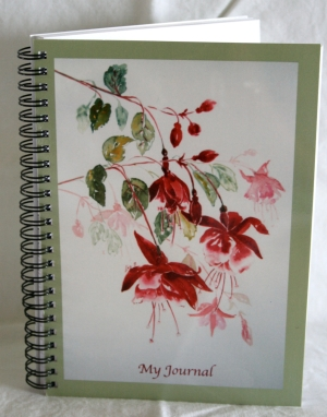 Spiral-bound notebook/journal/diary/art journal with personalised cover