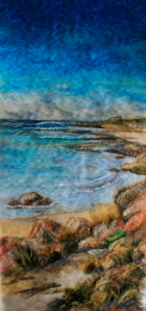 Felt Painting of east coast of King Island