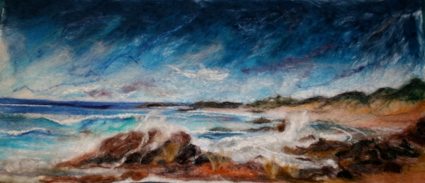 King Island felted painting