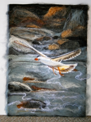 Kelp Gull Wool Art